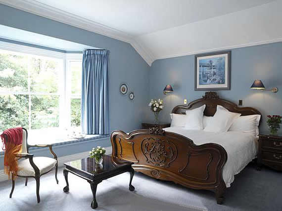South Facing Room with Pale Blue Color