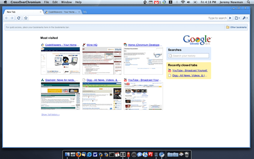 screenshot - chrome for mac