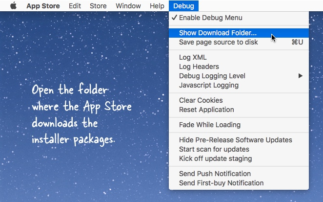 Mac App Store Download Folder