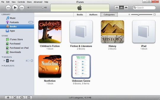 PDFs in iTunes