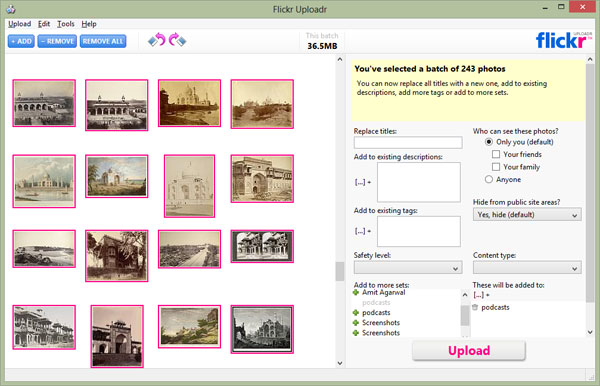 Flickr Desktop Uploader