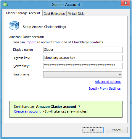 Amazon Glacier for Backup