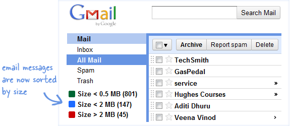 Big Gmail Messages