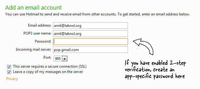Enter Gmail Email and Password