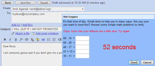 gmail delay mails