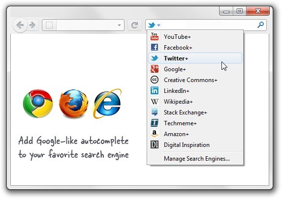 Add Google Autocomplete to other Search Engines