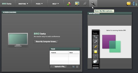 adobe brio screen sharing