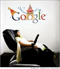 google employees relax