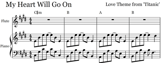 compose musical notations