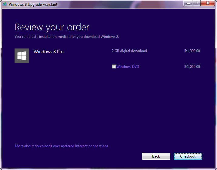 Order Windows 8 Upgrade