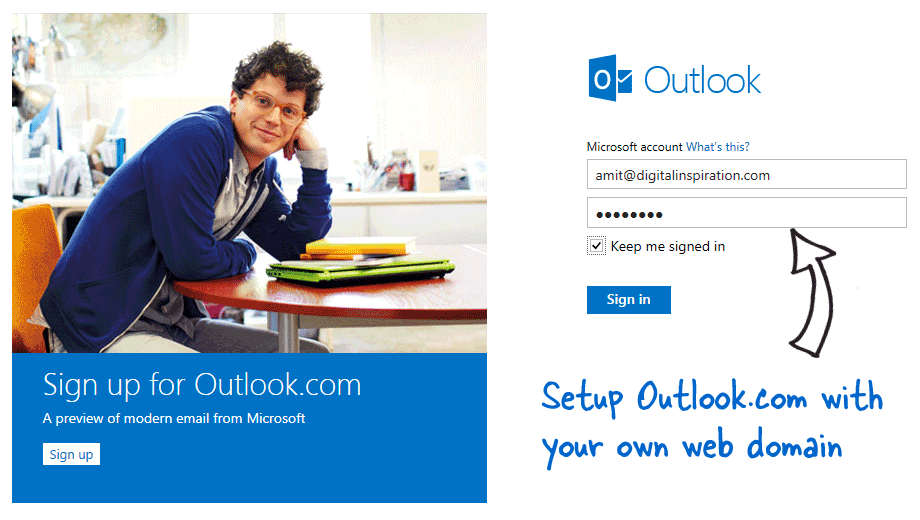 Outlook Mail on Custom Domains