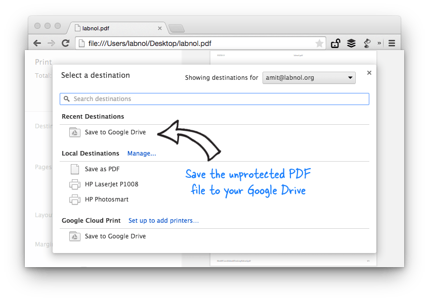 Remove PDF Password with Chrome - The Internet Tips
