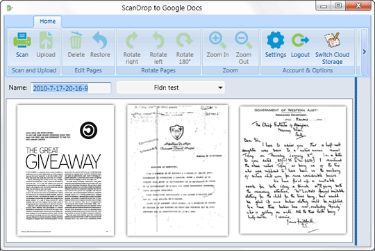Scan Documents to Google
