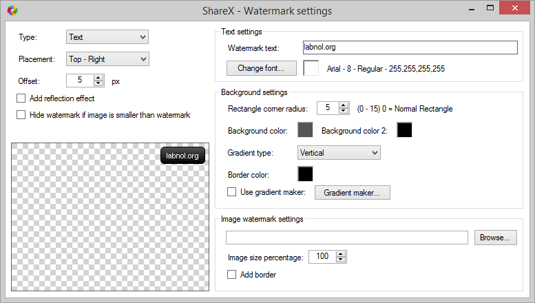 Add Watermark to your Screenshot Images