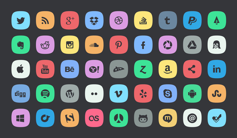 social-icon-badges