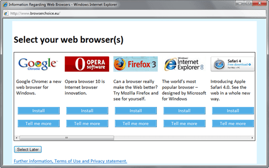 web browser ballot