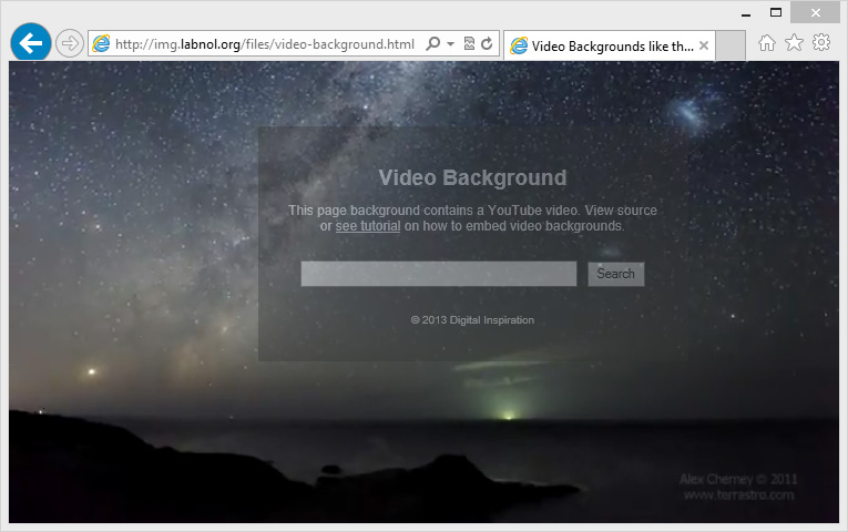 YouTube Video Background