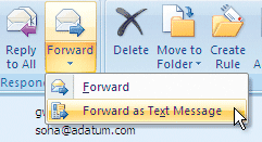 sms via email forward