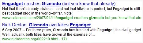 engadget gizmodo rival blogs