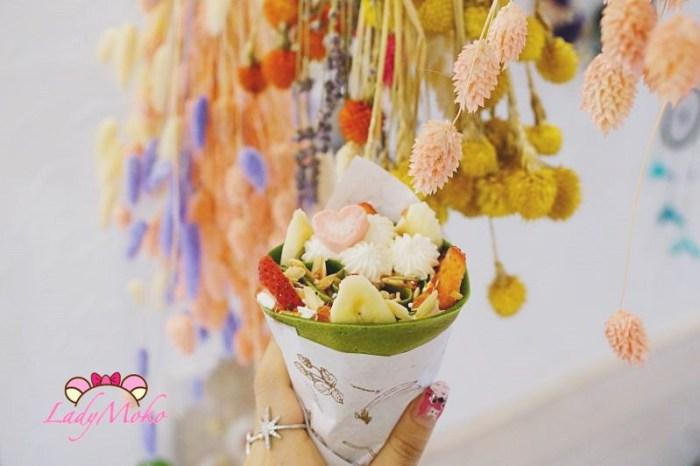 板橋甜點》Meetcha Crepes遇見日式手作可麗餅,乾燥花與抹茶可麗餅的新埔站下午茶