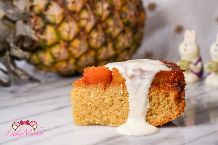 反轉焦糖奶油鳳梨蛋糕搭配自製酸奶Caramel Pineapple Upside Down Cake Recipe, W/ Handmade Sour Cream
