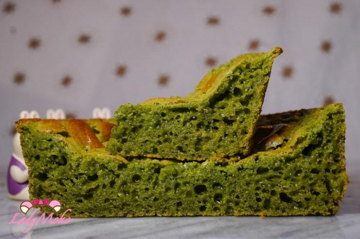 抹茶印尼椰汁黃金糕/魚翅糕 Indonesian Honeycomb Cake(改良版洞洞QQ糕)