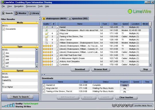 LimeWire Screenshots - Free Software Download - Lawyerment
