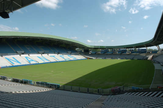 View of the Beaujoire stadium in Nantes.