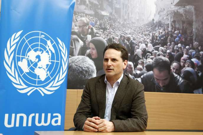 Pierre Krähenbühl, the Commissioner General of the Agency for Palestinian Refugees, during an interview in Damascus, on March 11, 2015.