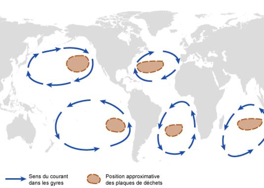 D'immenses plaques de déchets flottent sur tous les océans du monde.
