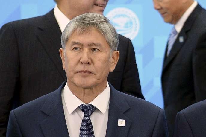 Almazbek Atambayev, le 10 juillet 2015 à Ufa (Russie).