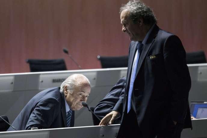 Sepp Blatter and Michel Platini, May 29, 2015.