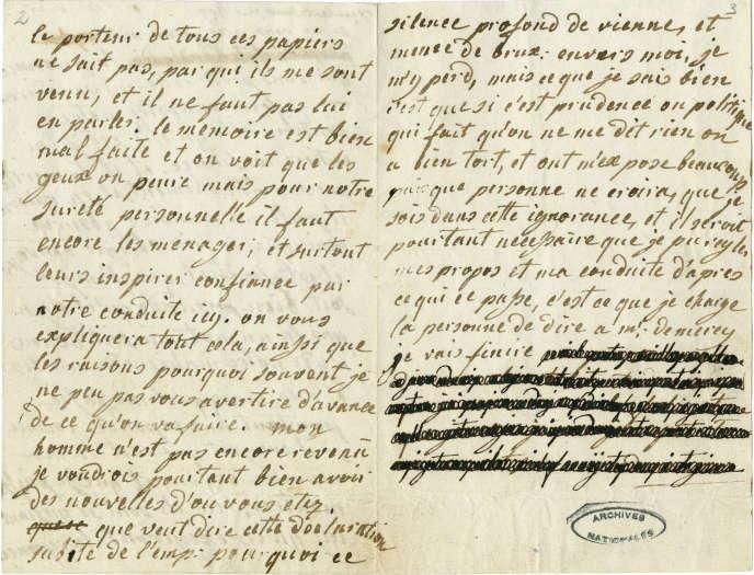 Les dessous des lettres de Marie-Antoinette