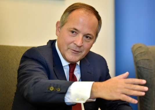 Benoît Cœuré, membre du directoire de la Banque centrale européenne, à Riga.