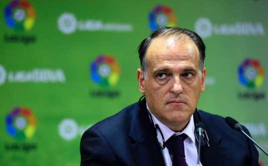 Javier Tebas, président de la Ligue espagnole de football, en mai 2015.
