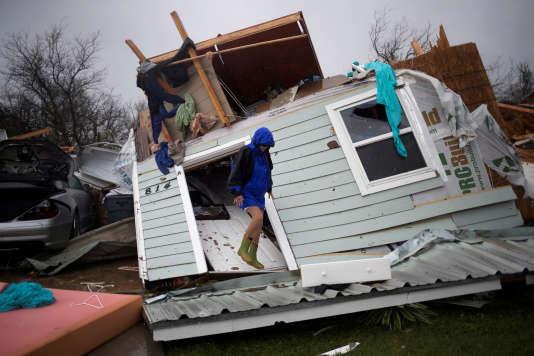 Rockport, sur le littoral texan, a été touché de plein fouet par l'ouragan Harvey.