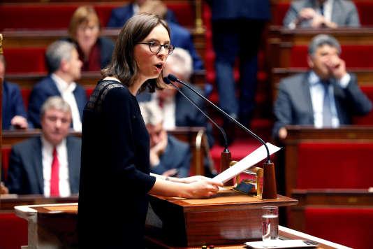 La députée LRM Amélie de Montchalin à l'Assemblée.
