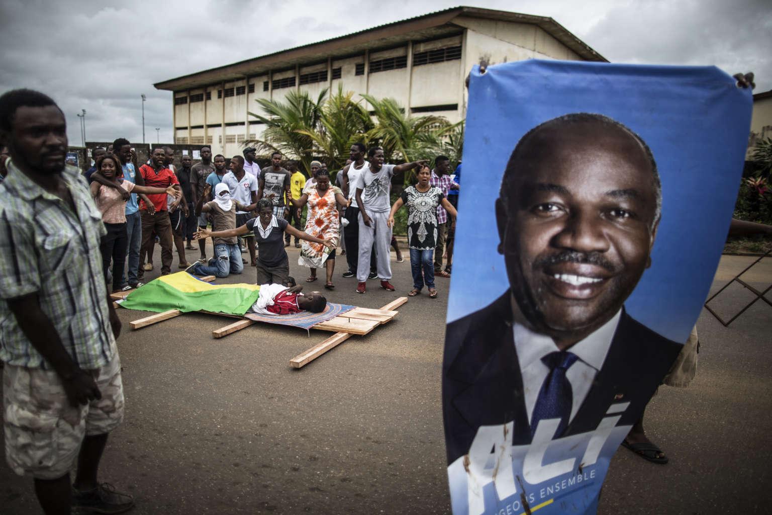 A Libreville, après la réélection contestée dans la rue du président gabonais Ali Bongo le 1er septembre 2016.