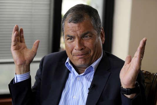 Rafael Correa, lors d'une interview à Quito le 19 janvier. Il a depuis déménagé en Belgique.