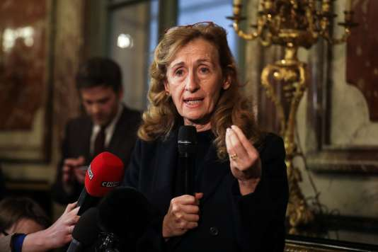 Nicole Belloubet, ministre de la justice, le 22 janvier, à Paris.