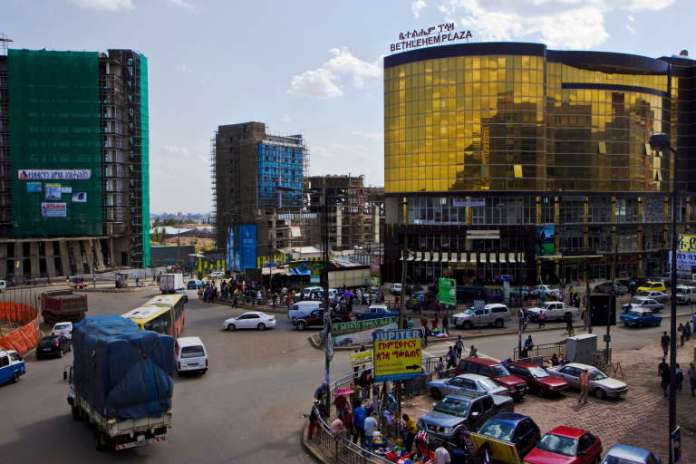 In Addis Ababa, new buildings are coming out of the ground every week, usually built by Chinese people.