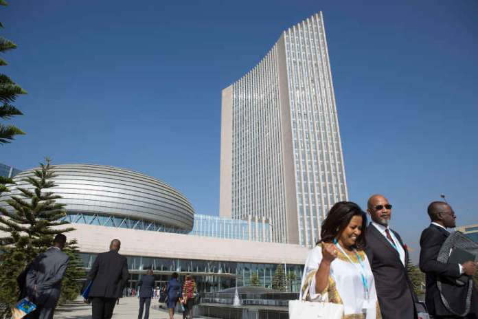 The headquarters of the African Union in Addis Ababa in 2017
