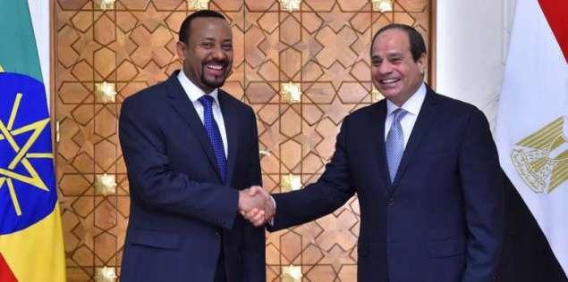 Le premier ministre éthiopien, Abiy Ahmed, et le président égyptien, Abdel Fattah Al-Sissi, au Caire, le 10juin 2018.