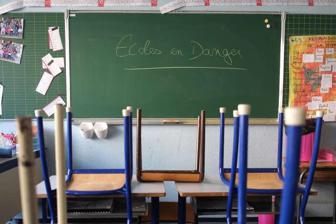 A l'école primaire Jean Perrin, le 8 février 2016.