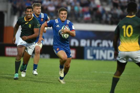 The Frenchman Louis Carbonel against South Africa, June 7 in Narbonne, during the world championship U20.