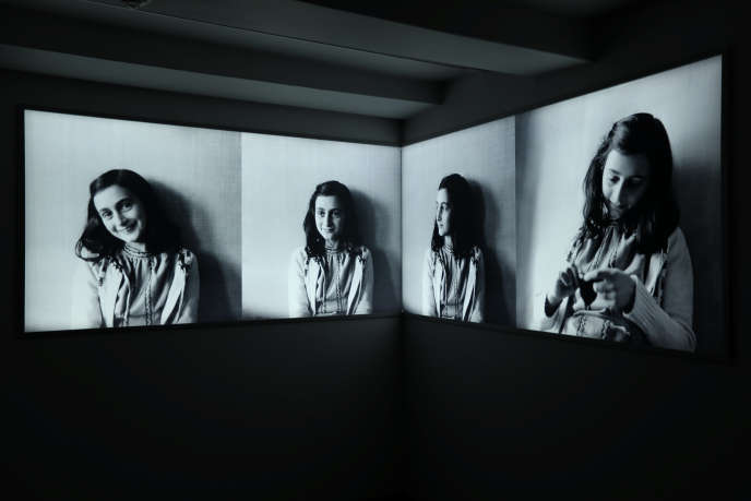 The photographic portraits of Anne Frank exhibited at the Anne Frank Museum, the Netherlands, on November 21, 2018.