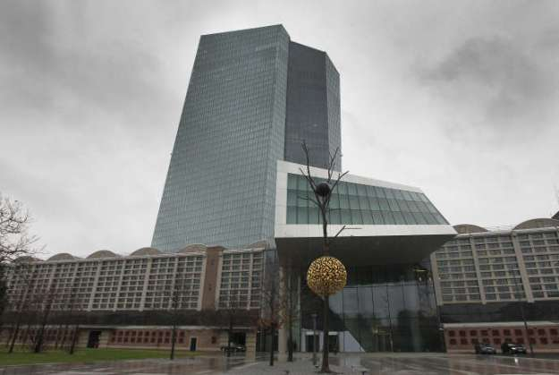 The headquarters of the European Central Bank (ECB) in Frankfurt am Main in January.