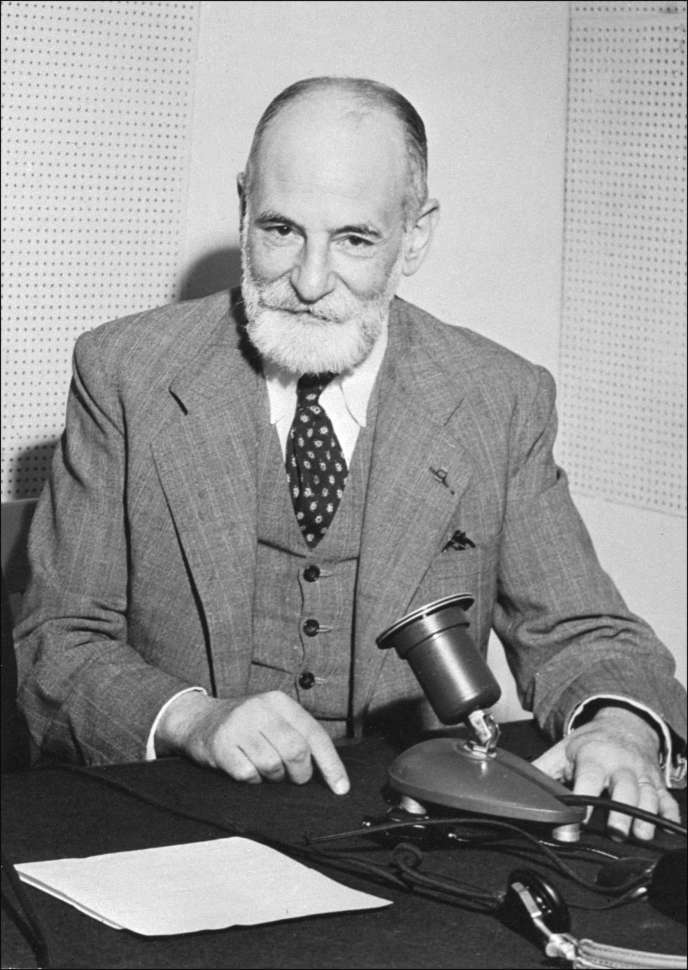 Undated photograph of French jurist and Nobel Peace Prize winner in 1968, René Cassin, who was one of the editors of the Universal Declaration of Human Rights and an important contribution to its adoption by the United Nations on December 10, 1948 in Paris. René Cassin was also president of the European Court of Human Rights.