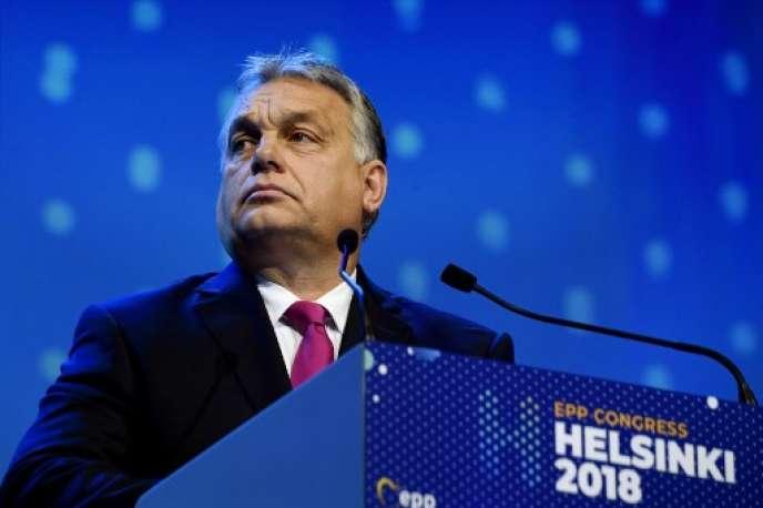 Viktor Orban, 8 November, at the Congress of the European People's Party, Helsinki.