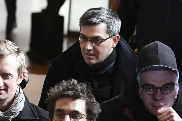 Julien Coupat, lors de son procès à Paris, le 13 mars 2018.
